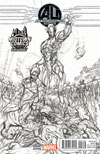 Age Of Ultron #1 Midtown Exclusive J Scott Campbell Sketch Variant Cover