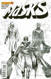 Masks #4 Incentive Ardian Syaf Black & White Cover