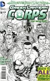 Green Lantern Corps Vol 3 #18 Incentive Juan Jose Ryp Sketch Cover (Wrath Of The First Lantern Tie-In)