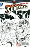 Superman Vol 4 #20 Incentive Aaron Kuder Sketch Cover