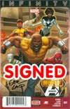 Mighty Avengers Vol 2 #1 Cover I DF Signed By Greg Land