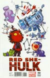 Red She-Hulk #58 Variant Skottie Young Baby Cover