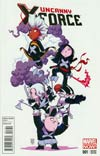 Uncanny X-Force Vol 2 #1 Variant Skottie Young Baby Cover