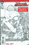 Red Lanterns #22 Cover B Incentive Rags Morales Sketch Variant Cover