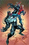 Spider-Man vs Venom By J Scott Campbell Poster