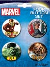 Marvel Comics 4-Button Set #5 Avengers