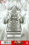 Nova Vol 5 #8 Cover C Incentive Christopher Jones Lego Sketch Variant Cover (Infinity Tie-In)
