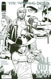 Walking Dead #115 Cover N Incentive Midnight Release Black & White Cover