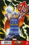Avengers Vol 5 #21 Cover B Incentive Leonel Castellani Lego Color Variant Cover (Infinity Tie-In)