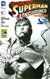 Superman Unchained #1 Cover O 2013 San Diego Comic-Con Exclusive Variant Cover