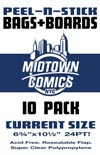 Current Size Comic Book Peel-N-Stick Bag-N-Board 10-Pack