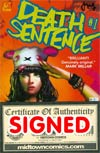 Death Sentence #1 Cover C Regular MontyNero Cover Signed By MontyNero