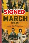March Book 1 GN Signed By John Lewis Andrew Aydin And Nate Powell