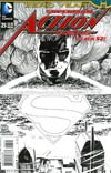 Action Comics Vol 2 #25 Cover B Incentive Aaron Kuder Sketch Cover (Batman Zero Year Tie-In)