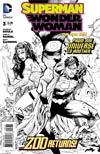 Superman Wonder Woman #3 Cover E Incentive Tony S Daniel Sketch Cover