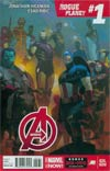 Avengers Vol 5 #24.NOW Cover G Regular Esad Ribic Cover Without Polybagged Daniel Acuna Mega Fold-Out Poster