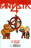 Fantastic Four Vol 5 #1 Cover C Variant Skottie Young Baby Cover
