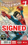 Amazing Spider-Man Vol 3 #1 Cover R DF Gold Signature Series Signed By Stan Lee