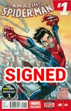 Amazing Spider-Man Vol 3 #1 Cover S DF Silver Signature Series Signed By John Romita Sr