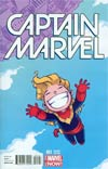 Captain Marvel Vol 7 #1 Cover C Variant Skottie Young Baby Cover