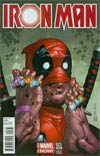 Iron Man Vol 5 #23.NOW Cover C Variant Deadpool Party Cover