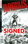 Magnus Robot Fighter Vol 4 #1 Cover L Incentive Gabriel Hardman Pure Line Art Silver Signature Signed By Fred Van Lente