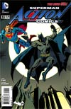 Action Comics Vol 2 #33 Cover B Variant Kevin Nowlan Batman 75th Anniversary Cover (Superman Doomed Tie-In)
