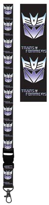 Transformers Lanyard With Badge Holder - Transformers - Decepticon Symbol