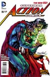 Action Comics Vol 2 #35 Cover B Variant Neal Adams Monsters Cover (Superman Doomed Aftermath)