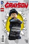 Grayson #4 Cover B Variant Lego Cover