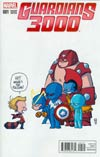 Guardians 3000 #1 Cover B Variant Skottie Young Baby Cover