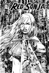 Red Sonja Vol 5 #0 Cover B Variant Gabriel Hardman Black & White Cover