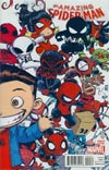Amazing Spider-Man Vol 3 #9 Cover B Variant Skottie Young Interlocking Baby Cover (Spider-Verse Tie-In)