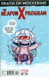 Death Of Wolverine Weapon X Program #1 Cover B Variant Skottie Young Baby Cover