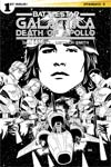Battlestar Galactica Death Of Apollo #1 Cover E Incentive Dietrich Smith Black & White Cover