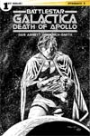 Battlestar Galactica Death Of Apollo #1 Cover F Incentive Ardian Syaf Black & White Cover