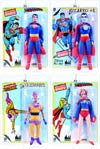 Superman Retro 8-Inch Action Figure Series 1 Complete 4-Figure Set