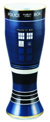 Doctor Who 20-Ounce Hand Painted Glass - TARDIS