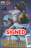 Princess Leia #1 Cover Z-F DF Exclusive Signature Trilogy Set Signed By Justin Ponsor