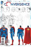 Convergence #8 Cover D Incentive John Romita Jr Superman Sketch Variant Cover