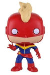 POP Marvel 154 Captain Marvel Masked GTS Exclusive Vinyl Bobble Head