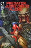 Predator vs Judge Dredd vs Aliens #4 Cover A Regular Glenn Fabry Cover