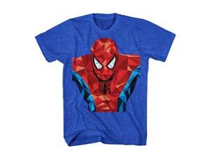 Spider-Man Parker Mask Blue T-Shirt Large