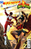 Justice League Power Rangers #1 Cover G Variant Marcus To Wonder Woman Red Ranger Cover