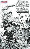 Army Of Darkness Xena Forever And A Day #1 Cover G NYCC Exclusive Reilly Brown Black & White Variant Cover