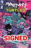 Batman Teenage Mutant Ninja Turtles #1 Cover T Midtown Exclusive Cliff Chiang Color Variant Cover Signed By Cliff Chiang (Limit 1 Per Customer)