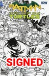 Batman Teenage Mutant Ninja Turtles #1 Cover U Midtown Exclusive Cliff Chiang Sketch Variant Cover Signed By Cliff Chiang (Limit 1 Per Customer)