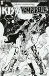 KISS Vampirella #1 Cover F Incentive Roberto Castro Black & White Cover