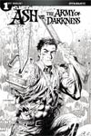 Ash vs The Army Of Darkness #1 Cover E Incentive Tyler Kirkham Black & White Cover