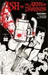 Ash vs The Army Of Darkness #2 Cover F Incentive Pasquale Qualano Black & White Cover